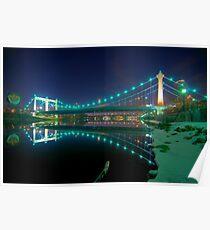 Hennepin Avenue Bridge, Winter's Night Poster