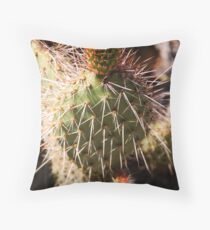 Scarlet Cactus Throw Pillow