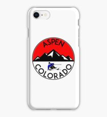 ASPEN COLORADO Ski Skiing Mountain Mountains Skiing Skis Silhouette Snowboard Snowboarding iPhone Case/Skin