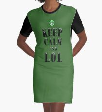 Keep calm and LOL Graphic T-Shirt Dress
