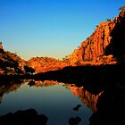 The Blue and Gold of the Australian Outback by myraj