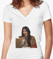 Laughing Kim Women's Fitted V-Neck T-Shirt