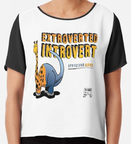 Extroverted Introvert Chiffon Top