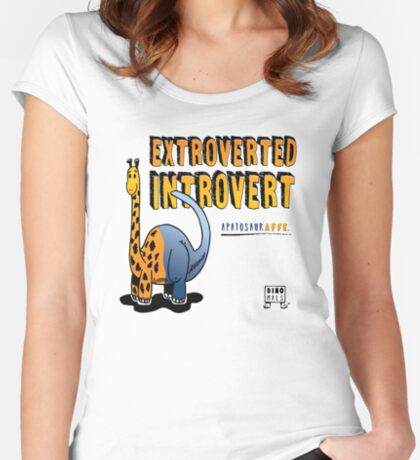 Extroverted Introvert Fitted Scoop T-Shirt