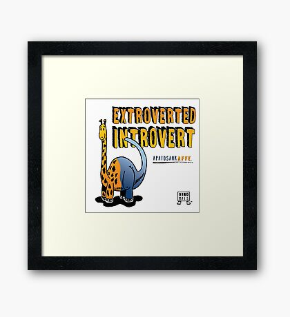 Extroverted Introvert Framed Print