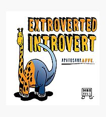 Extroverted Introvert Photographic Print