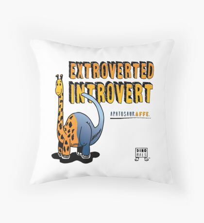 Extroverted Introvert Throw Pillow