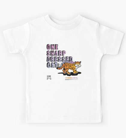 One Sharp Dressed Cat Kids Clothes