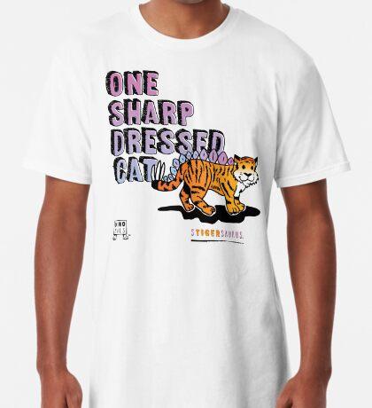 One Sharp Dressed Cat Long T-Shirt