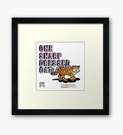 One Sharp Dressed Cat Framed Print