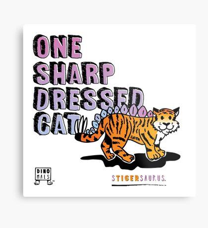 One Sharp Dressed Cat Metal Print