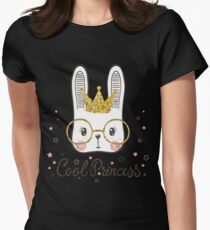 Cute rabbit Womens Fitted T-Shirt
