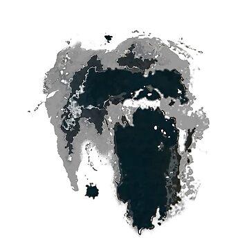King Kong Ink Blot on Denham's Map by incredthreads