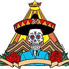 Day of the Dead T Shirt Colour by Fangpunk