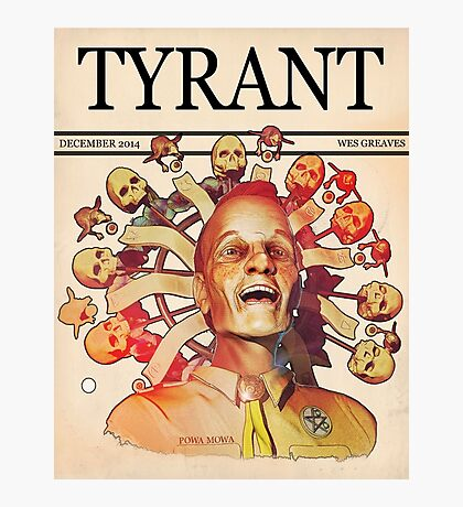 'Tyrant' Photographic Print