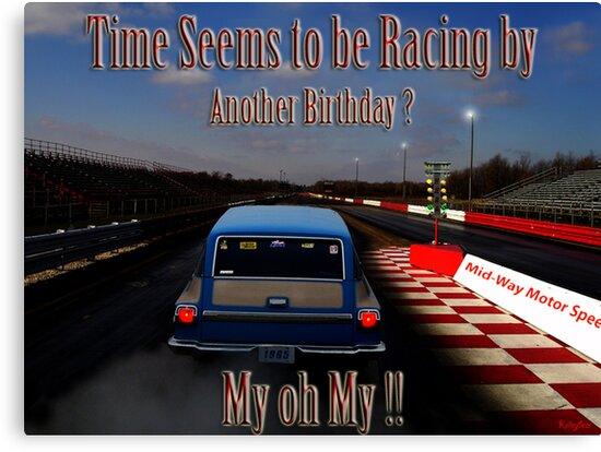 Lienzos Drag Racing Birthday Card De Kelleybear Redbubble