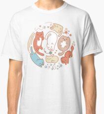 Cat life. Seven cute cats. Classic T-Shirt