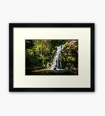 Beautiful waterfall in Cabreia Portugal Framed Print