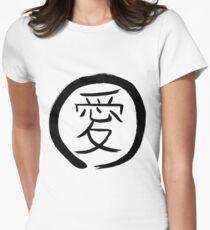 Kanji - Love (Ring) Women's Fitted T-Shirt
