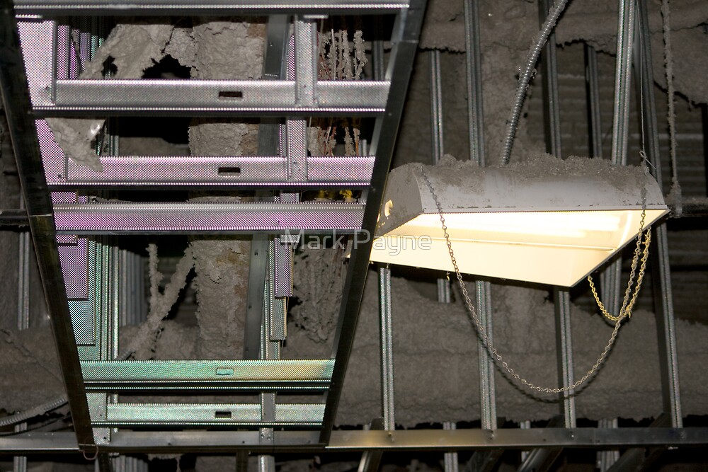 Industrial Rafters Construction Dust  by Mark Payne