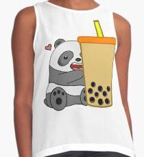 Panda + Boba  Contrast Tank