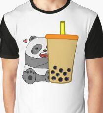 Panda + Boba  Graphic T-Shirt