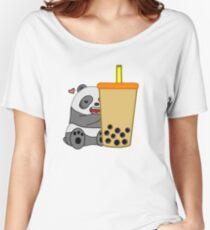 Panda + Boba  Women's Relaxed Fit T-Shirt
