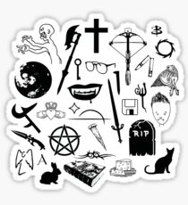 Buffy Symbology - Black Sticker