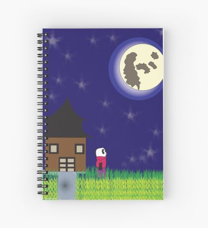 Good Night Panda Moon Spiral Notebook