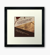 Chained Up - Promises Framed Print
