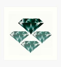 Diamonds are forever 4. Art Print