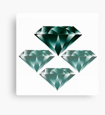 Diamonds are forever 4. Canvas Print