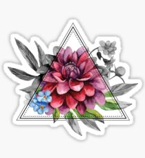 Geometric Dahlia Sticker