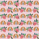 Beagle floral flowers beagles dog breed cute pet gifts for dog lover by PetFriendly