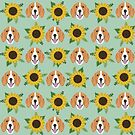 Beagle floral flowers beagles dog breed cute pet gifts for dog lover sunflowers by PetFriendly