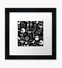 Buffy Symbology - White Framed Print