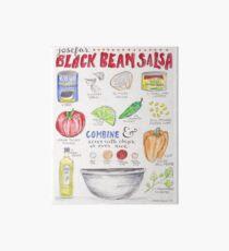 Salsa Recipe Watercolor Illustration Art Board