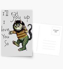 Ich werde dich essen Postkarten