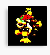 Flaming Bowser Canvas Print