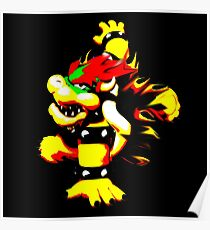 Flaming Bowser Poster