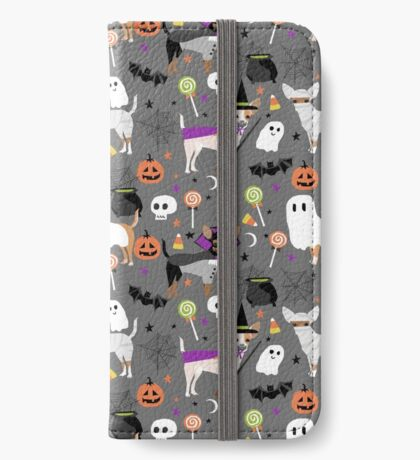 Chihuahua halloween dog breed pet portrait chihuahuas dog costumes iPhone Wallet