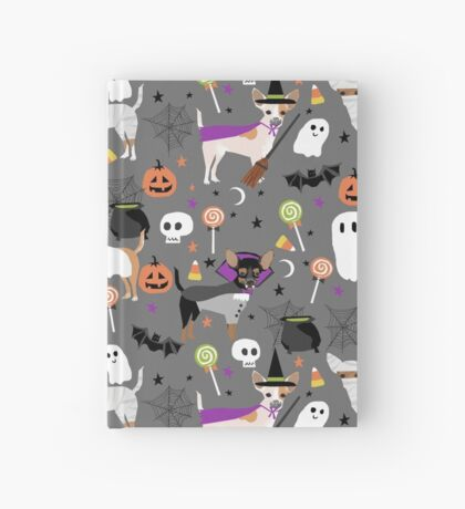Chihuahua halloween dog breed pet portrait chihuahuas dog costumes Hardcover Journal