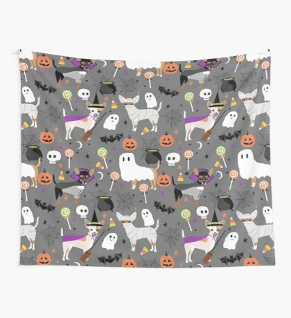 Chihuahua halloween dog breed pet portrait chihuahuas dog costumes Wall Tapestry