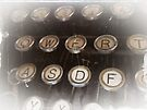 Antique typewriter by David Carton