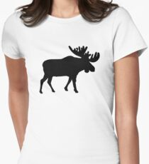 Moose Womens Fitted T-Shirt