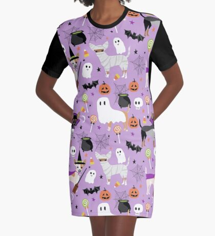 Chihuahua dog breed halloween pet portrait cute dogs gifts Graphic T-Shirt Dress
