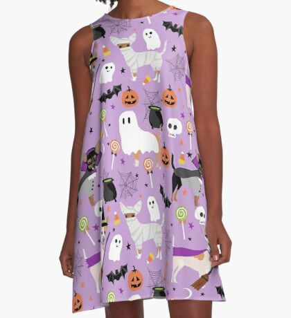 Chihuahua dog breed halloween pet portrait cute dogs gifts A-Line Dress