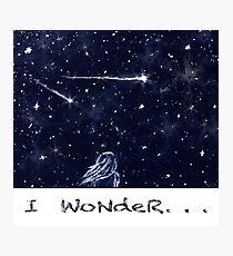 Night Sky, I Wonder Photographic Print