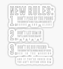 New rules stickers redbubble new rules sticker stopboris Gallery