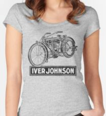 Vintage Iver-Johnson Motorbike advertisement Women's Fitted Scoop T-Shirt